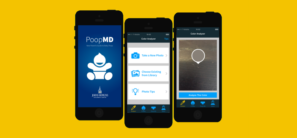 Josh Bolinger and PoopMD mobile app from Johns Hopkins Childrens Hospital